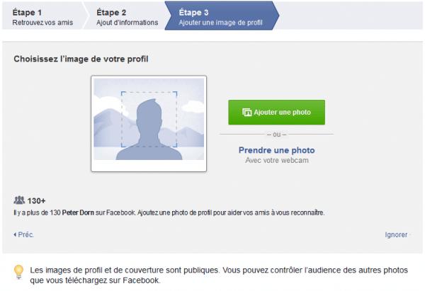 Comment mettre une photo de profil Facebook